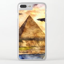 Ancient Aliens and Ancient Egypt Clear iPhone Case