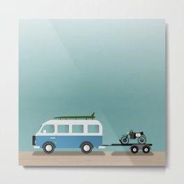 Surf Vans Metal Print