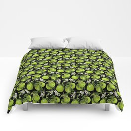 Blooming pomelo with fruits Comforters