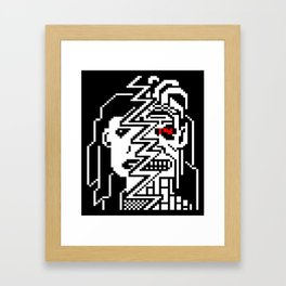 Teletext Monster Girl Framed Art Print
