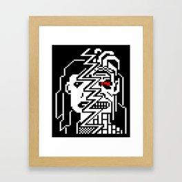 Teletext Monster Girl Framed Art Print