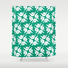 Teal Shakas Shower Curtain