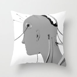 Cybernetic Coma Throw Pillow