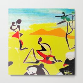 Lipton in East Africa          by Kay Lipton Metal Print