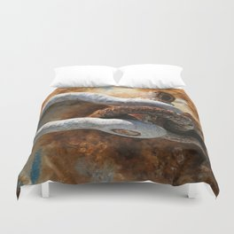 Old Rusty Buoy Duvet Cover