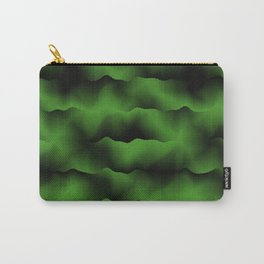 Emerald Green Waves Carry-All Pouch