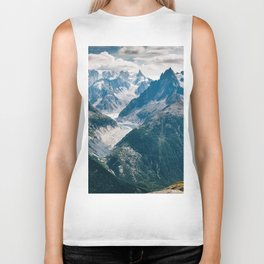 Chamonix, France #society6 #decor #buyart Biker Tank
