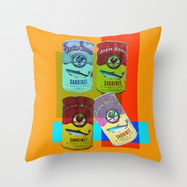 CANNED SARDINE Throw Pillow