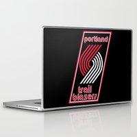 nba Laptop & iPad Skins featuring NBA - Trail Blazers by Katieb1013