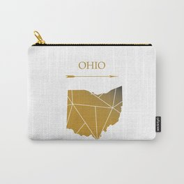 Ohio In Gold Carry-All Pouch