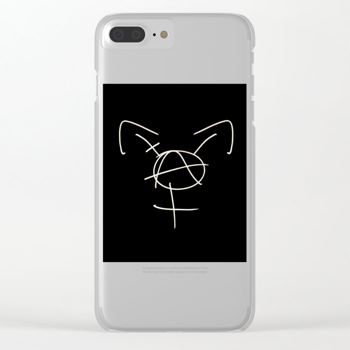 Tranarchy Clear iPhone Case