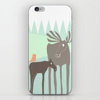 moose iPhone & iPod Skins featuring Moose by Dream Of Forest