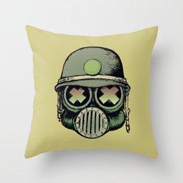 War Skull Throw Pillow