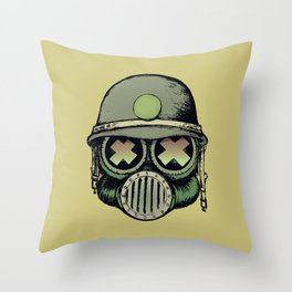 War Skull Throw Pillow