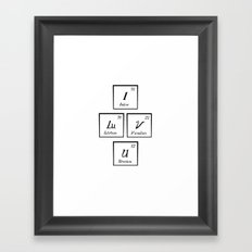 Chemisrty Framed Art Print