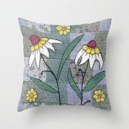 Woodland Flowers 1 Throw Pillow