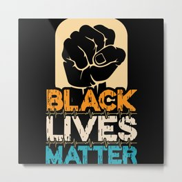 Black Lives Matter Unity Freedom Metal Print