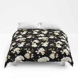 Spring Rose - Black Comforters
