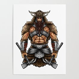 Norseman Berserker | Viking Warrior Valhalla Odin Poster