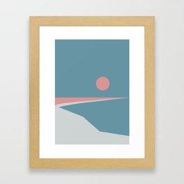 Sunset at Newton Framed Art Print