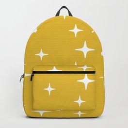 Mid Century Modern Star Pattern 443 Mustard Yellow Backpack