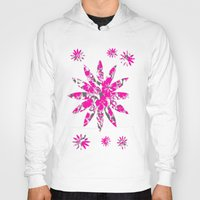 flower pattern Hoodies featuring Flower Pattern  by Sammycrafts