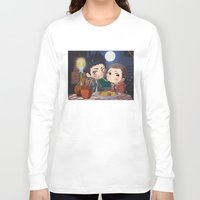 clueless Long Sleeve T-shirts featuring The Stiles&TheTramp by MGNemesi