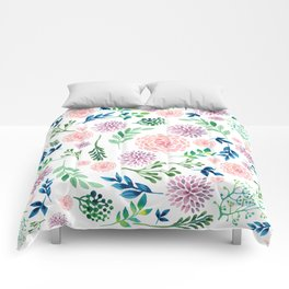 Watercolour Flowers and Nature Comforters