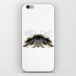 Timber Wolf Wild One iPhone Skin