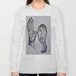 ASL Grandfather in Denim Colors Long Sleeve T-shirt