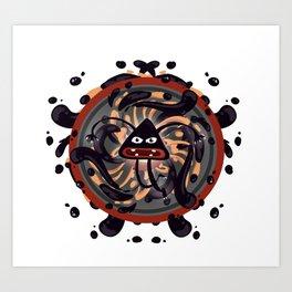 Evil Mandala Art Print