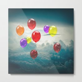 Balloons Adrift Metal Print