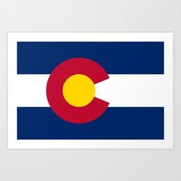 Colorado flag - High Quality image Art Print