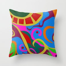 Brazil, a mosaic of culture Throw Pillow