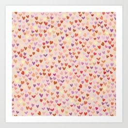 Small hearts pattern Art Print