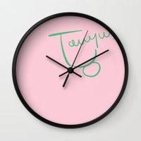 taurus Wall Clocks featuring Taurus by LindsayMichelle
