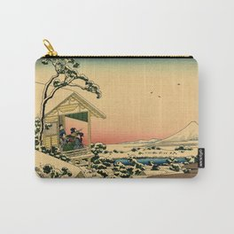 Japanese teahouse after the snow Carry-All Pouch