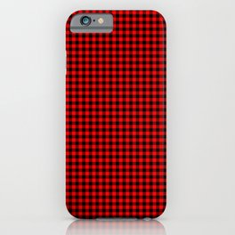Mini Red and Black Cowboy Buffalo Check iPhone Case