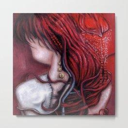 my heart soars like a blood red artifact Metal Print