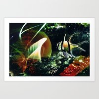 The magic fish Art Print