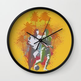 Football is passion Wall Clock