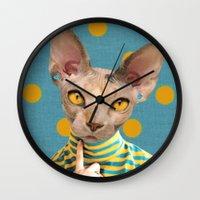 dot Wall Clocks featuring DOT by Julia Lillard Art