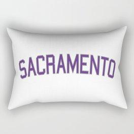 Sacramento Sports College Font Rectangular Pillow