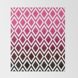 Dipped Pink Diamonds Throw Blanket