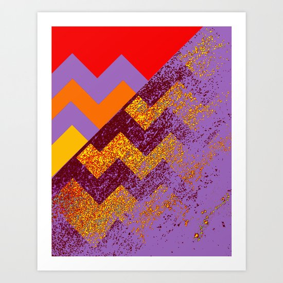 rational meets sparkly irrational Art Print