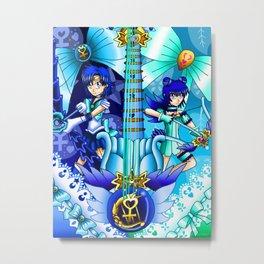 Sailor Mew Guitar #16 - Sailor Mercury & Mew Minto Metal Print