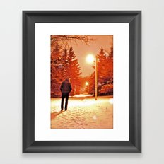 Take a Walk With Me Framed Art Print