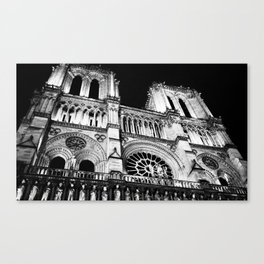 Night at Notre Dame Canvas Print