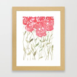 A Bunch Of Red Roses Framed Art Print