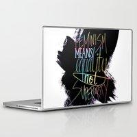 feminism Laptop & iPad Skins featuring Feminism  by Christina